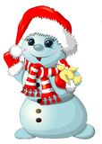 Fun snowman isolated.– stock illustration Stock Images