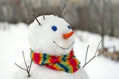 Fun snowman. Stock Photo