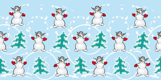 Fun Snowmans Stock Image