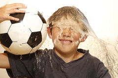 Fun with soccer ball royalty free stock image