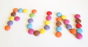 Fun. Some candies with different colors Stock Photography