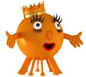 Fun space orange alien Stock Image