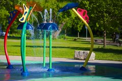 Fun Splash Pad Stock Photography