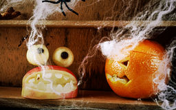 Fun spooky homemade Halloween food decorations Stock Images