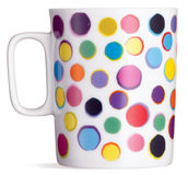 Fun spotty coffee tea mug  Royalty Free Stock Image
