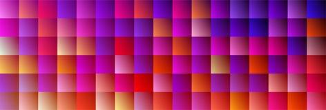 Fun Square Backdrop. Trendy Color Design BG stock illustration