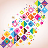 Fun squares background Stock Photography