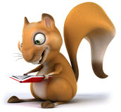 Fun squirrel. 3D generated picture Royalty Free Stock Photos