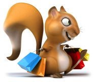 Fun squirrel. 3D generated picture Royalty Free Stock Photo