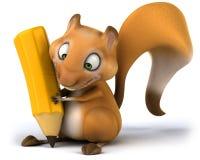 Fun squirrel. 3D generated picture Stock Photos