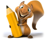Fun squirrel. 3D generated picture Stock Images