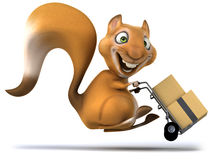 Fun squirrel. 3D generated picture Royalty Free Stock Images