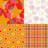 Fun stars and pattern quads Royalty Free Stock Images