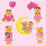 Fun Stickers bears Royalty Free Stock Image