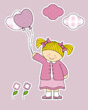 Fun stickers for girl's room Stock Image