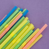 Fun Straws on a Vibrant Background Royalty Free Stock Photos