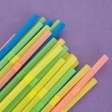 Fun Straws on a Vibrant Background Royalty Free Stock Photos