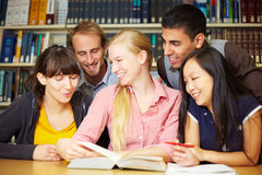 Fun at study group Stock Images
