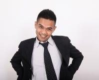 Fun success face of business man. Fun success face of young business man Royalty Free Stock Images