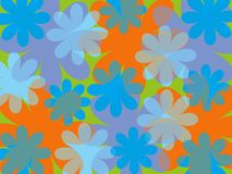 Fun summer blue flower. Background Royalty Free Stock Images