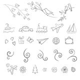 Fun, summer, spring, travel, illustration, vector set icon Royalty Free Stock Photo