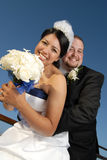 Fun summer wedding portrait Royalty Free Stock Photo