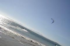 Fun in the Sun 01. Kitesurfing near Gordonsbay in South Africa Stock Images