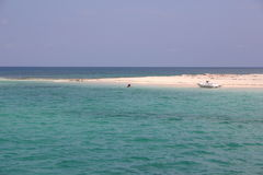 Fun in the sun. Beach in the Bahamas royalty free stock image