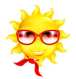 Fun sun. Computer illustration on the white Royalty Free Stock Photos