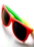 Fun in the Sun. Tri colored sunglasses royalty free stock image