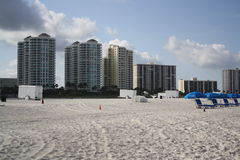 Fun And  Sun On Clearwater Beach Fl. Clearwater beach, condos, white sand, lots of sun Stock Photos
