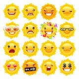 Fun Sun Emojis Stock Image