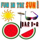 Fun in the Sun Graphics Royalty Free Stock Photos