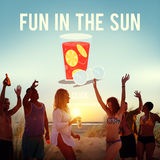 Fun in the Sun Summer Sunny Vacation Concept Stock Images