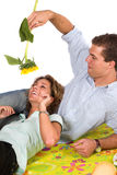 Fun with sunflower Stock Photography