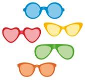 Fun sunglass collection Royalty Free Stock Photos