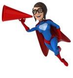 Fun superhero Stock Images