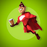 Fun superhero Royalty Free Stock Photos