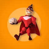 Fun superhero Stock Image