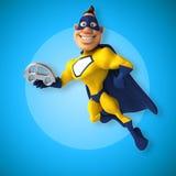 Fun superhero Stock Photography