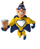 Fun superhero Royalty Free Stock Image