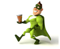 Fun superhero Stock Photo