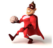 Fun superhero Royalty Free Stock Images