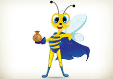 Fun Superhero Bee Stock Photos