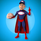 Fun superhero - 3D Illustration Stock Images