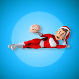 Fun superhero - 3D Illustration Royalty Free Stock Photography