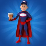 Fun superhero - 3D Illustration Royalty Free Stock Photo