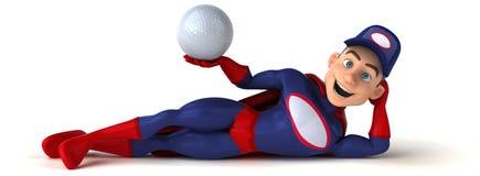 Fun superhero - 3D Illustration Royalty Free Stock Images