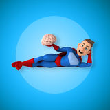 Fun superhero - 3D Illustration Stock Photos