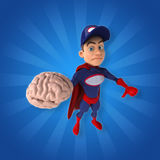 Fun superhero - 3D Illustration Stock Image
